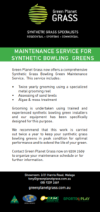 maintenance service for bowling greens