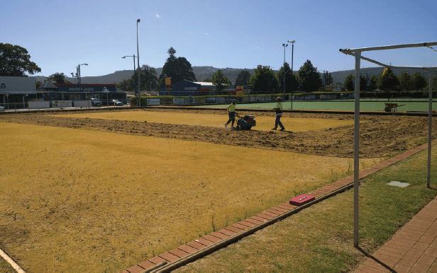 bowling green before installation