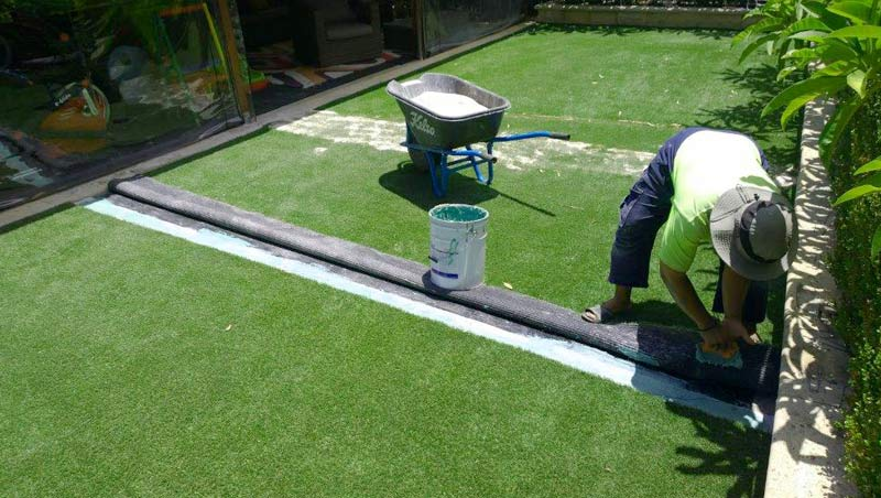 Installation of Synthetic Grass - DIY