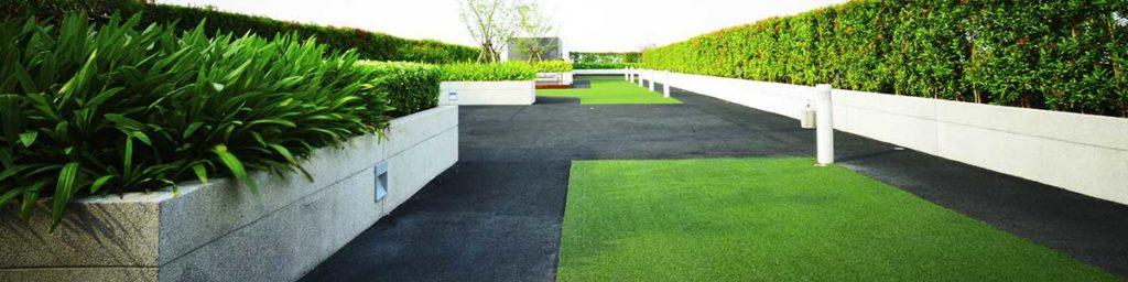 Rooftop Garden with Artifical Grass