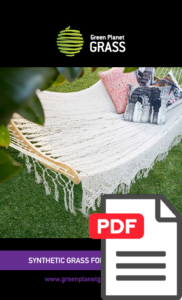 Fake Grass for home landscaping flyer