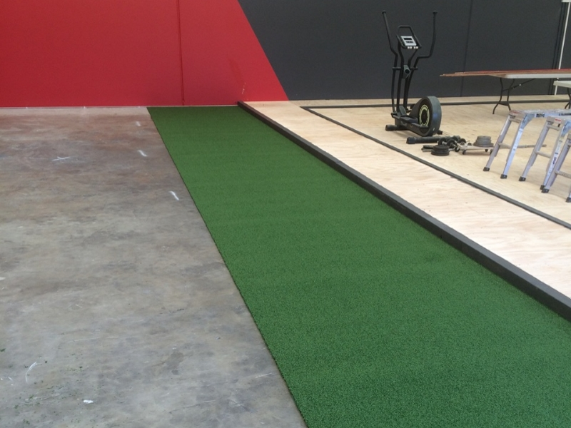 Gym with Artifical Grass