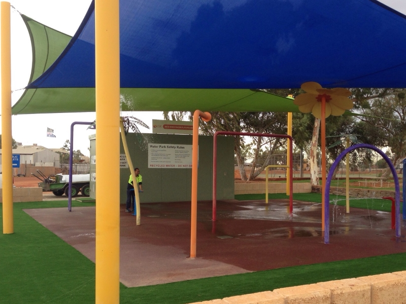 Waterpark with Artificial Grass