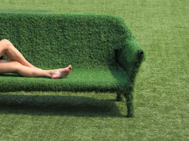 Artificial Grass Couch