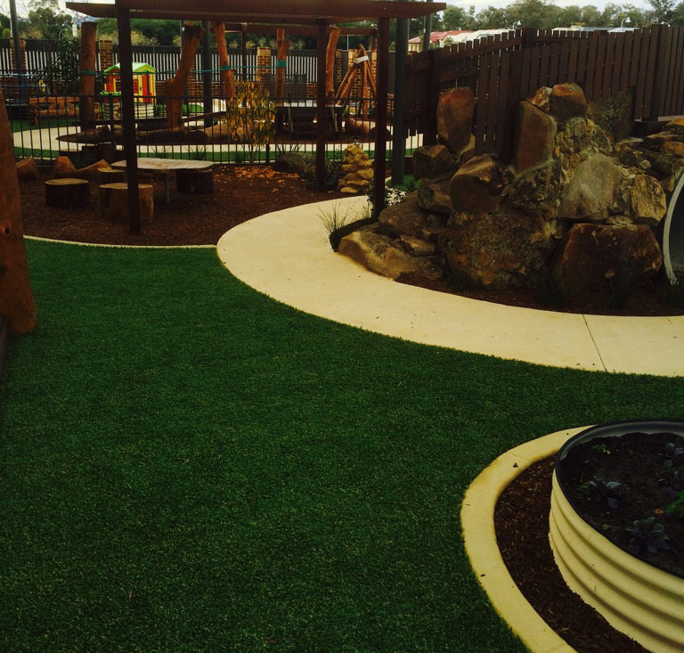 Artificial Lawn & Softfall Rubber for Child Care Centres & Playgrounds - Green Planet Grass