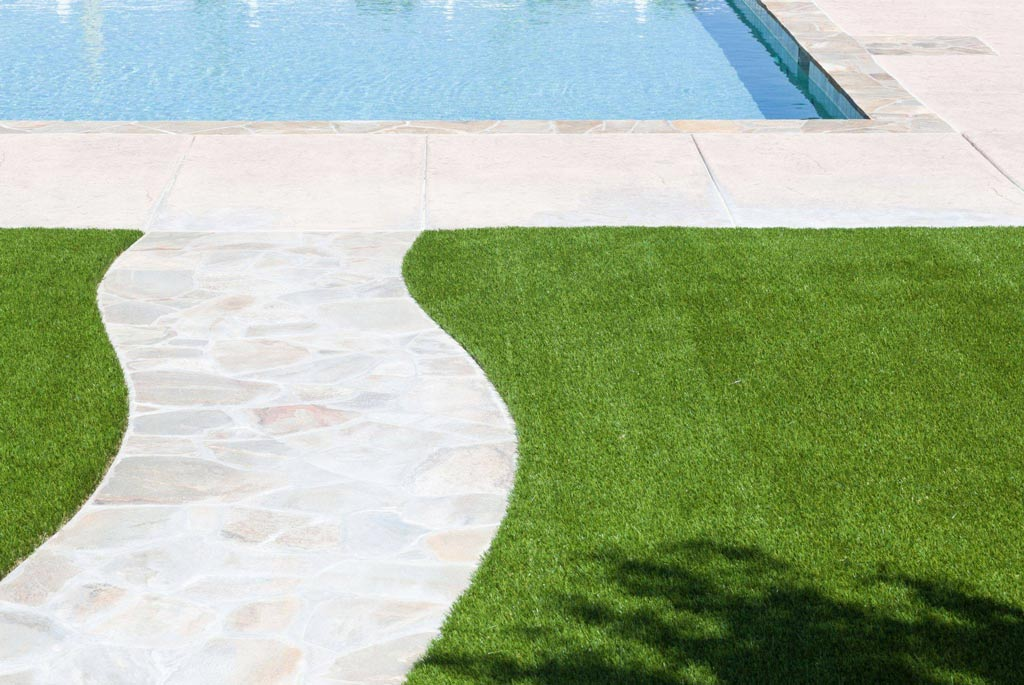 Synthetic Grass for Swimming Pool and Spa Areas - Green Planet Grass